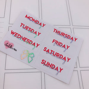 Foiled Stickers - Date Covers -Canada (Holo Foil)