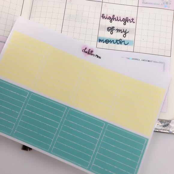 Hobonichi Weeks - Monthly Highlights - Pineapple