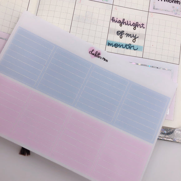 Hobonichi Weeks - Monthly Highlights - Purples