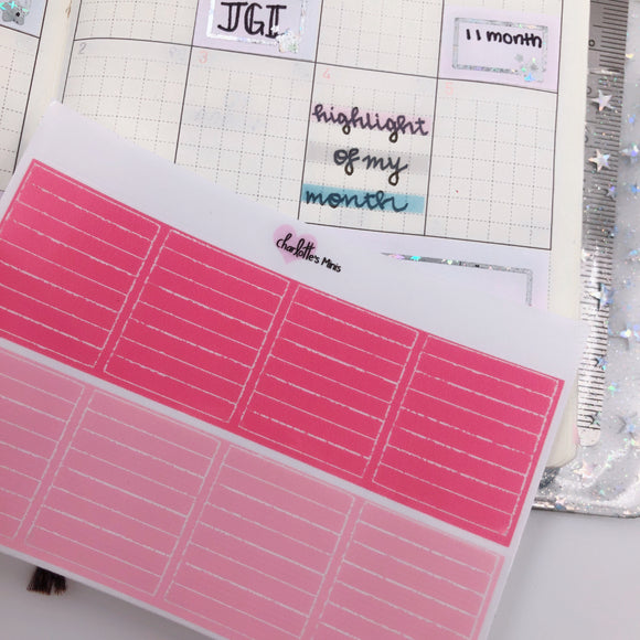 Hobonichi Weeks - Monthly Highlights - Pinks