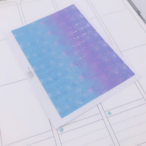 Planner Midis - Foiled Washi Strips - Blue/Purple Galaxy (Holo foil)