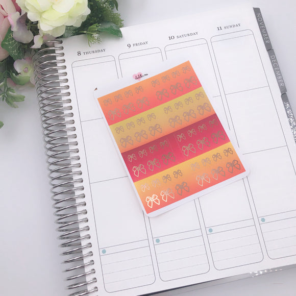 Planner Midis - Foiled Washi Strips - Fall Ombres (Rose Gold foil)