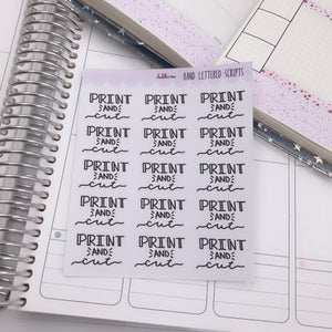 Planner Midi - Hand Lettered Scripts - Print and Cut
