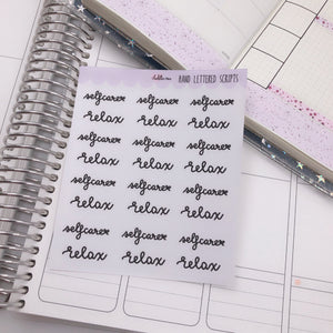 Planner Midi - Hand Lettered Scripts - Selfcare/Relax