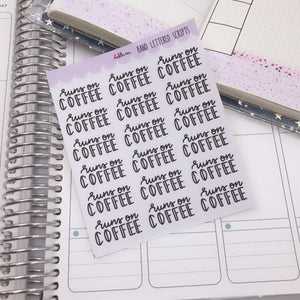 Planner Midi - Hand Lettered Scripts - Runs On Coffee