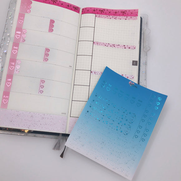 Hobonichi Weeks - Weekly Kits - Blue Monochrome (Blue Foil)