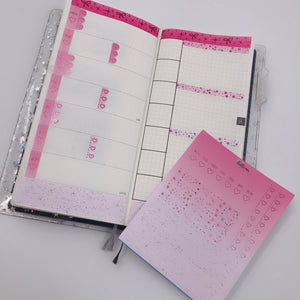 Hobonichi Weeks - Weekly Kits - Pink Monochrome (Pink Foil)