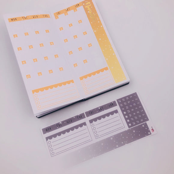 PP Weeks - Monthly Kits - Light Greys