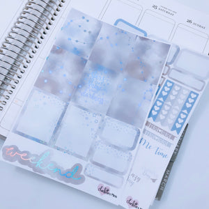 Planner Mini kits-HOLO Grey Galaxy Kit