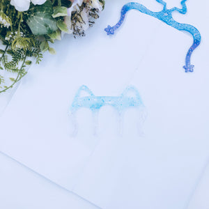 Planner Accessories - Resin Planner Comb - Winter Frost Cat