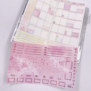 Hobonichi Weeks - Monthly Kits - Pink Lover (Red Holo Foiled)