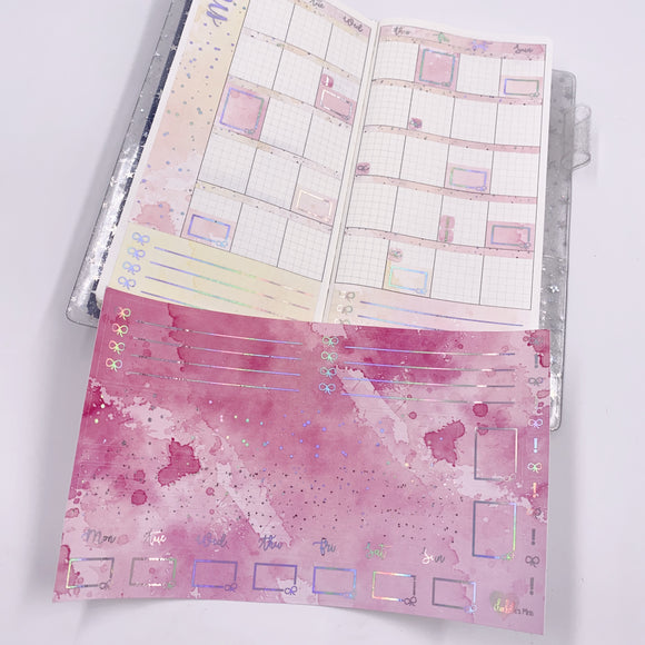 Hobonichi Weeks - Monthly Kits - Flamingo (Holo Foiled)