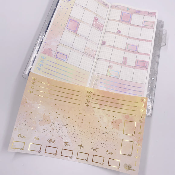 Hobonichi Weeks - Monthly Kits - Creamsicle (Holo Foiled)