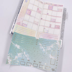 Hobonichi Weeks - Monthly Kits - Sea Foam (Light Gold Foiled)