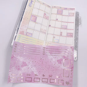 Hobonichi Weeks - Monthly Kits - Pink Lemonade (Light Gold Foiled)