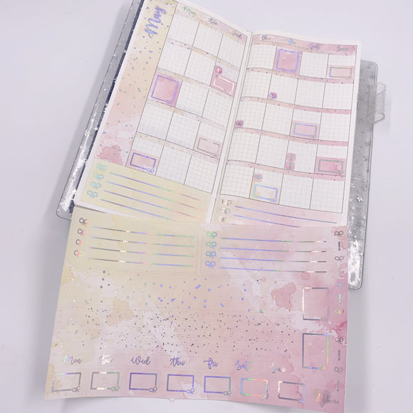 Hobonichi Weeks - Monthly Kits - Lemonade (Holo Foiled)