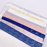 Foiled Stickers - Hobonichi Date Covers - Scallop and Bows - Dream