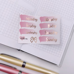 Foiled Stickers - Date Covers - Ombre Blush (Rose Gold Foil)