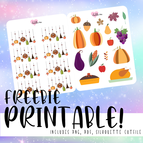 Thanksgiving Deco - Printable Stickers