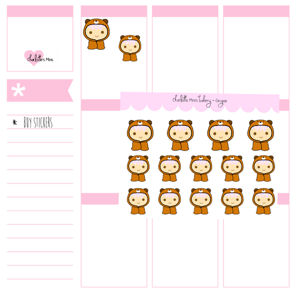 Planner Minis - Sugee - Sugee Bear Cuddles