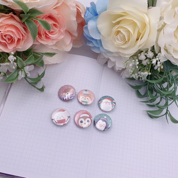 Button Pins - Winter Cuties