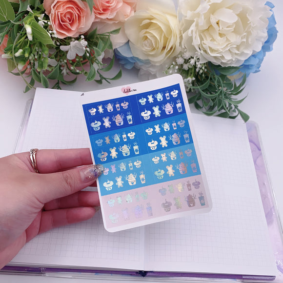Planner Midis - Foiled Washi Strips - Theme Park Snacks - Elsa