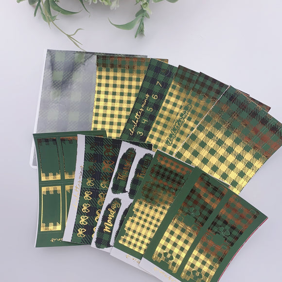 Foil Fridays - Forest Plaid - Full Bundle