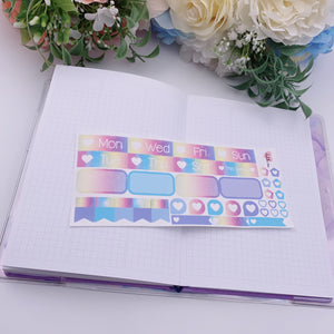 PP B6/Weeks Vertical Planner- Essential Kits - Bright Rainbows