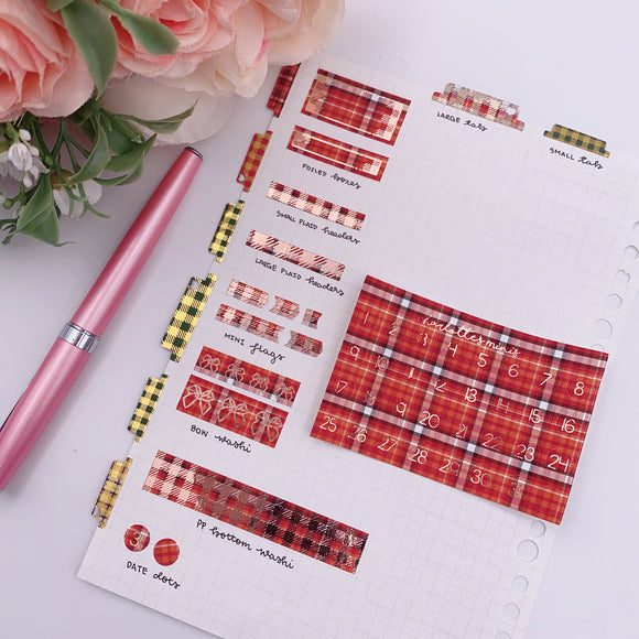 Foil Fridays - Autumn Plaid - Date Dots