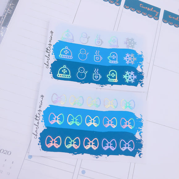Foiled Icons - Winter Icons - Frosty