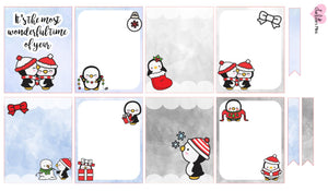 Planner Mini kits  - Snow Penguins