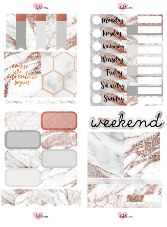 Planner Mini kits - Rosey