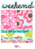 Planner Mini kits - Tropical Flamingoes