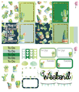 Planner Mini kits - Watercolour Succulents