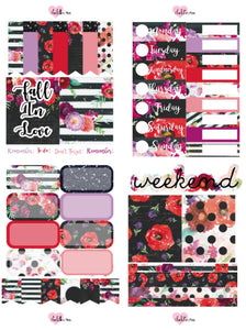 Planner Mini kits - Fall Florals (Dark)