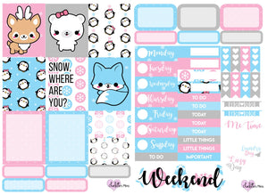 Planner Mini kits - Winter Animals