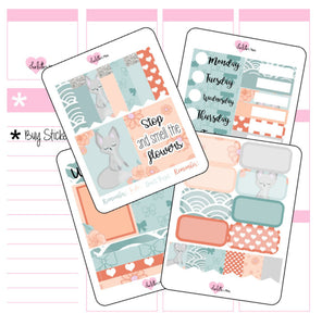 Planner Mini kits - Fox and Flowers