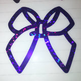 Holographic Bow Decal (Purple Galaxy Series)