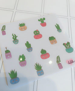 Planner Minis - Kawaii Succulent Deco Stickers