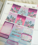 Planner Mini kits-HOLO Foiled Crystal Castles