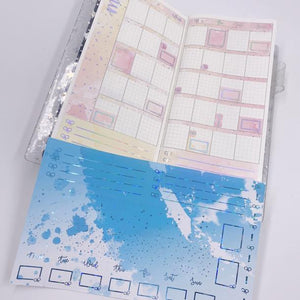 Hobonichi Weeks - Monthly Kits - Sky (Blue Holo Foiled)