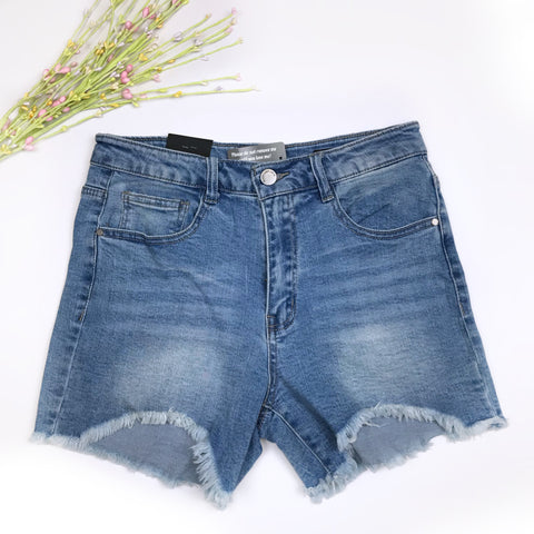Vintage Denim Distressed Shorts