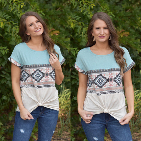 Lets Talk Aztec Top