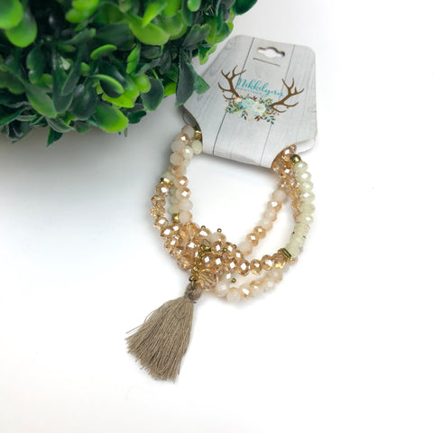 Grouped Bracelet with Tassel
