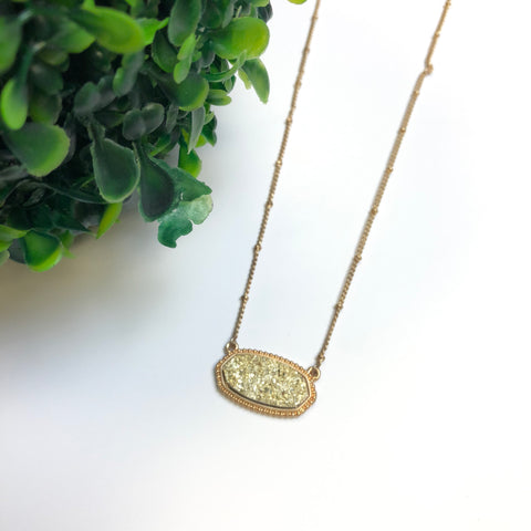 Druzy Necklace (short)