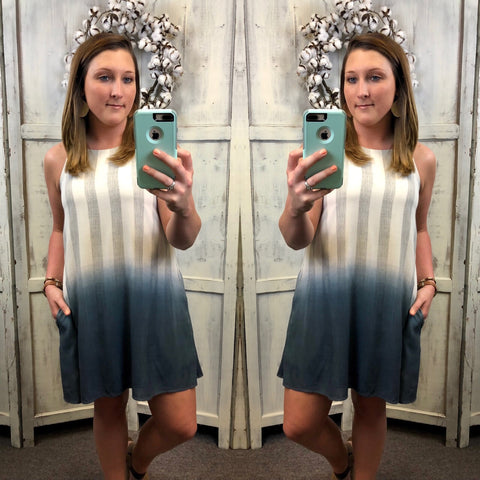 Linen Color Melt Dress