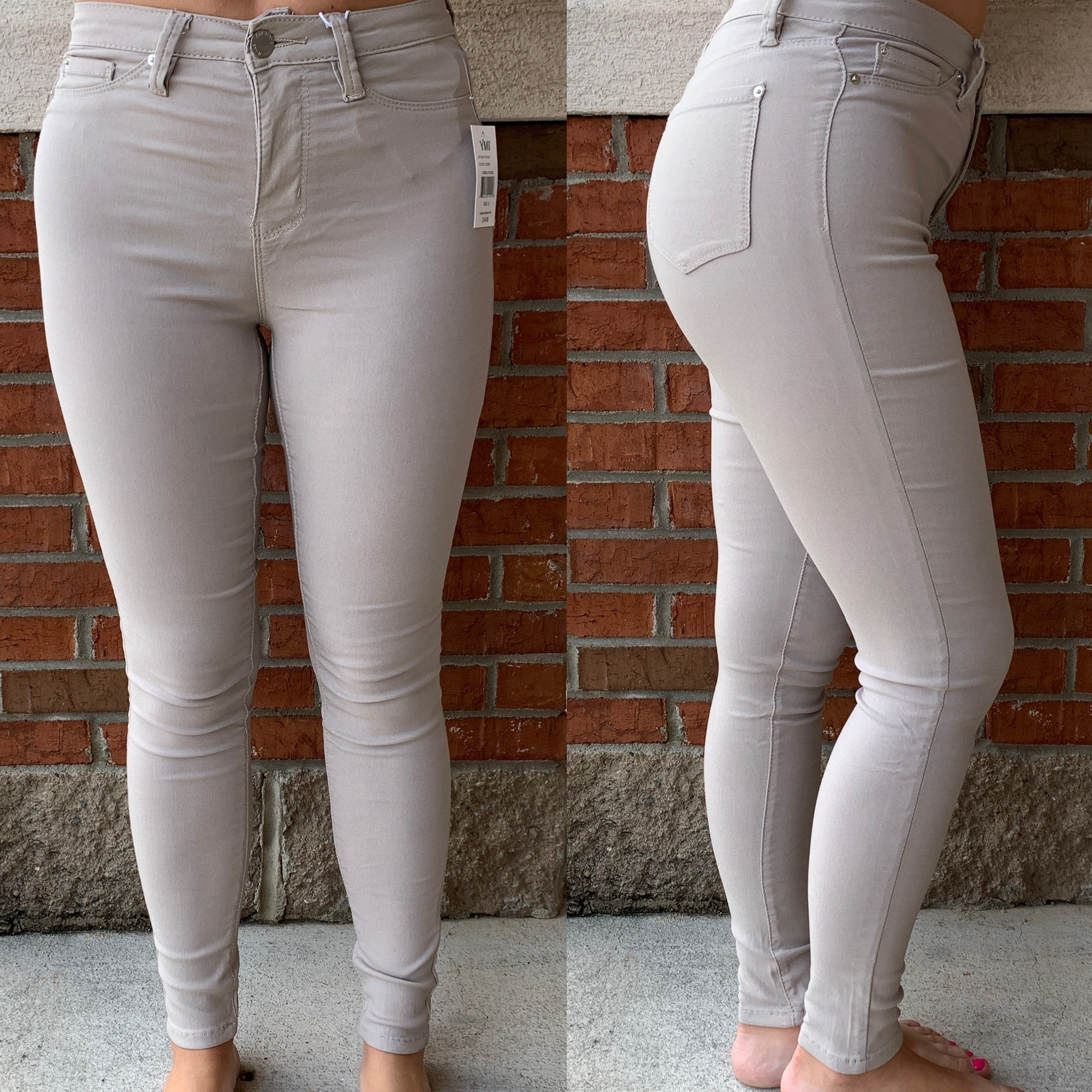 YMI Hyperstretch Skinnies *Final Sale* - Cobble Stone