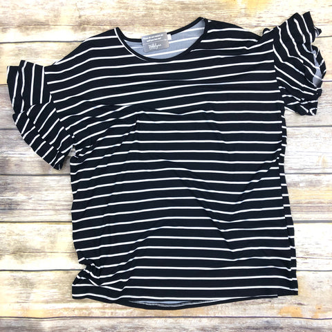 Daisy Drop Striped Top