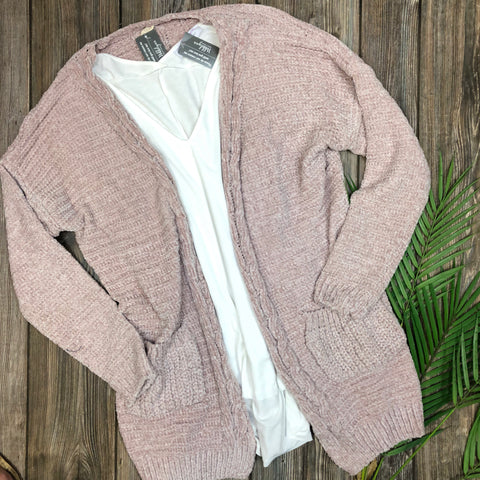 Braided Chenille Cardigan