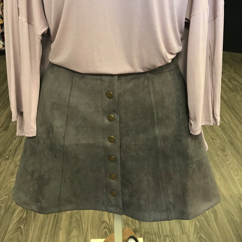 Button Down Stretchy Skirt